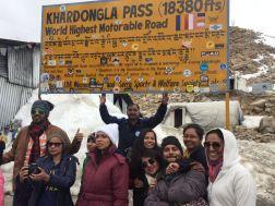 Gang at Khardungla