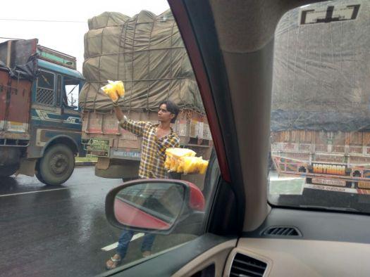 Bangalore to Gurgaon trip: traffic jam
