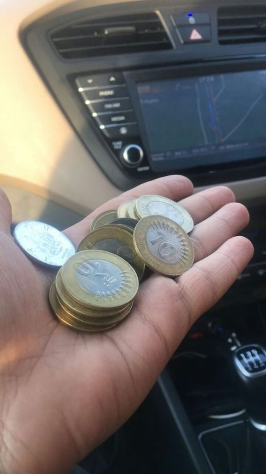 coins collected from tolls