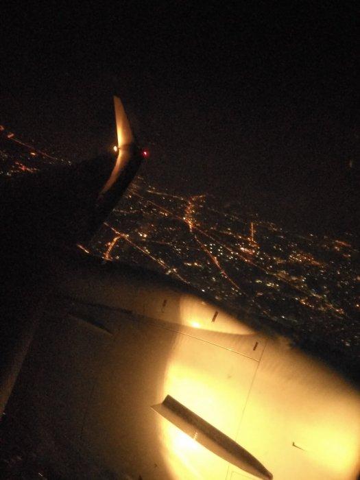 Night Flight over Bangalore city