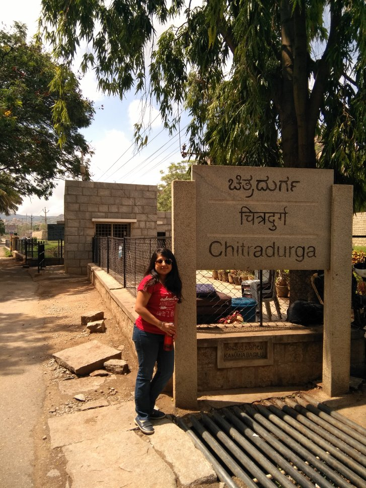 Posing at Chitradurga