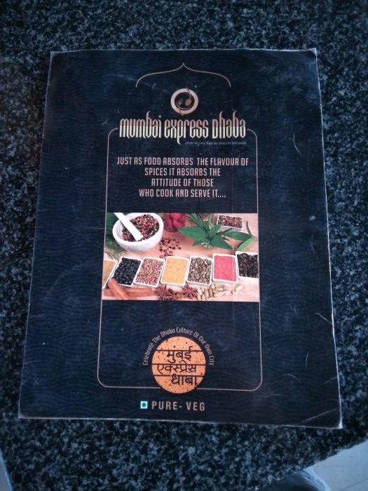 Mumbai express dhaba menu