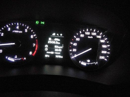 Bangalore to Gurgaon: i20 speedometer