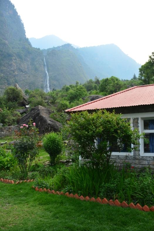 View of Birthi falls from KMVN Birthi near Munsiyari