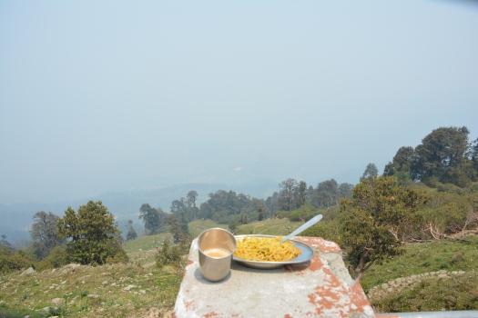 tea and maggi at Munsiyari Khaliya top
