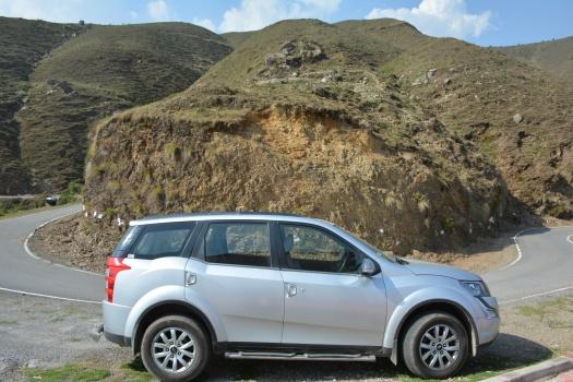 XUV on Chakrata roads