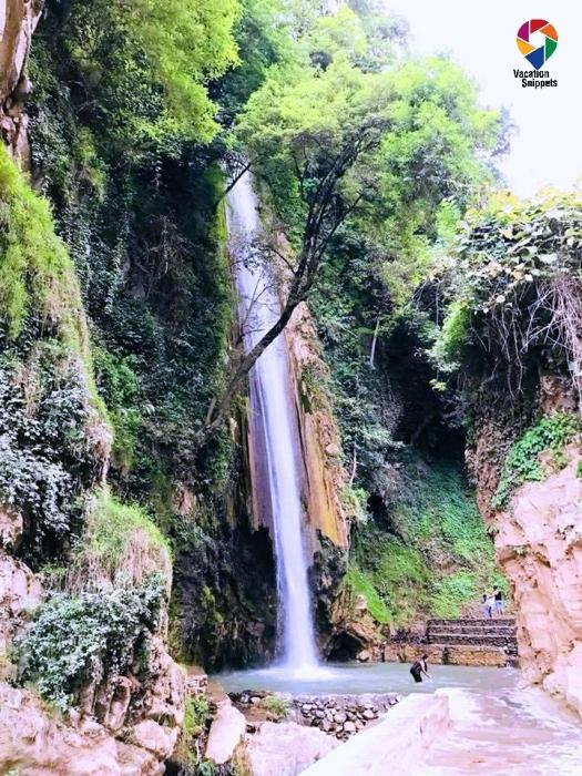 view of Tiger Falls, Chakrata, Uttarakhand